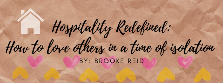 Hospitality Redefined: How to help others in a time of isolation.